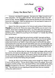 English Worksheets: Jenny the Mare Part 1