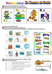 English Worksheets: The 4 Seasons & the Weather