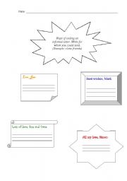 English Worksheets: How ending a letter