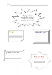 English Worksheets: How ending a letter