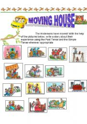 English Worksheet: Moving House- an exercise on the past and present tense