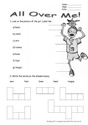 English Worksheets: All Over Me!