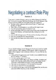 English Worksheet: Negotiation