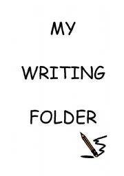English Worksheets: My writing folder title