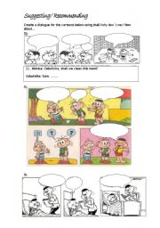 English Worksheet: Why don�t we / Shall I ../How about ...?