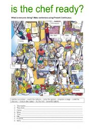 English worksheet: IS THE CHEF READY