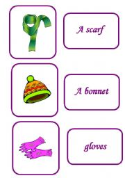 English Worksheets: clothes memory game 7 / 12