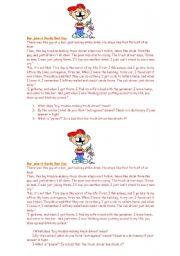 English Worksheets: *Bar Joke*