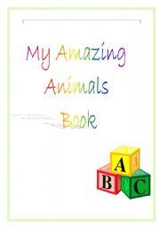English Worksheets: amazing animal book