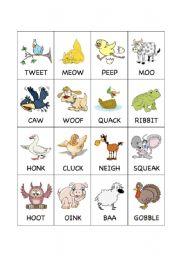 Barnyard Animal Flashcards 2 Esl Worksheet By Teachergenki