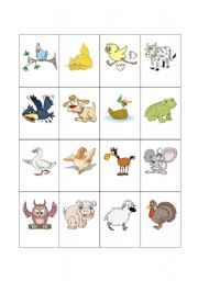 English Worksheet: Barnyard Animal Flashcards 3