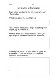 english worksheets how to write an explanation. Black Bedroom Furniture Sets. Home Design Ideas