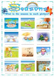 English Worksheets: SEASONS OF THE YEAR