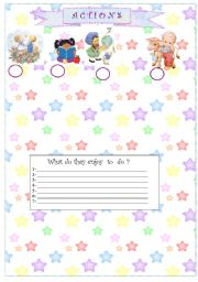 English Worksheets: Actions page 2