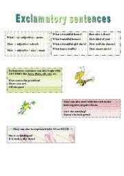 English Worksheets: Exclamatory Sentences