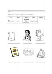 worksheets parts of a book worksheet kindergarten opossumsoft worksheets and printables. Black Bedroom Furniture Sets. Home Design Ideas