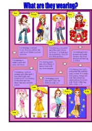 English Worksheet: Clothes. What are they wearing?