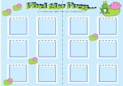 English Worksheets: Find the Frog Vocabulary Game for ANY vocabulary...