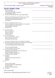 English Worksheets: Materials on the lesson - Freedom of Speech