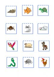 English Worksheet: Pets cards to go with my