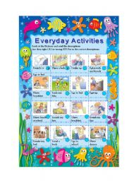 English Worksheets: Everyday Activities