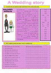 English Worksheet: A WEDDING STORY