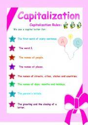 ESL kids worksheets: Capitalization