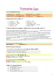 English Worksheet: Possessive Case