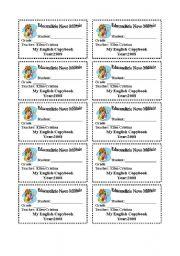 English Worksheets: notebook identification