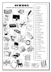 English Worksheet: SCHOOL OBJECTS , CLASSROOM OBJECTS