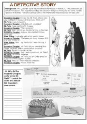 English Worksheet: DETECTIVE STORY - 1/3  SET