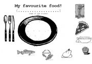 English Worksheet: My favourite food!