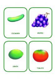 English Worksheet: FOOD FLASHCARDS 1