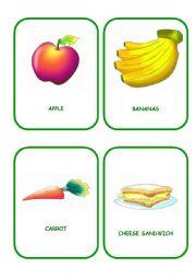 English Worksheet: FOOD FLASHCARDS 2