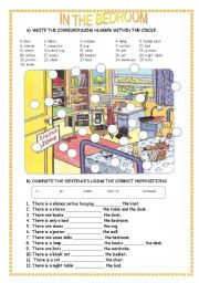 English Worksheets In The Bedroom