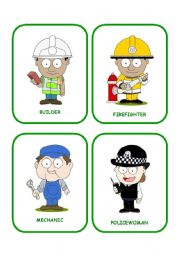 English Worksheet: job flashcards