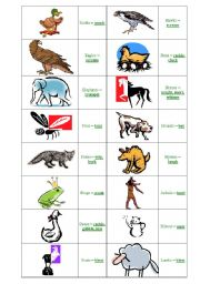 English Worksheets: animal cries 2