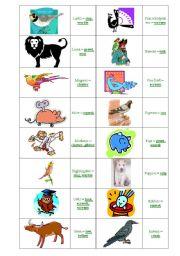 English Worksheets: animal cries 4