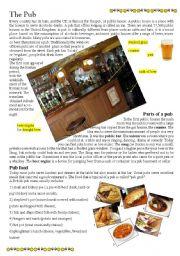 English Worksheet: The Pub 1