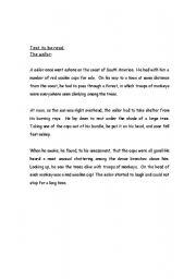 English Worksheets: the sailor