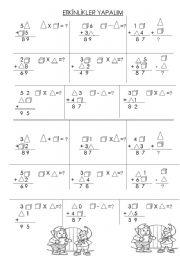 English Worksheets: Matematikcalisma