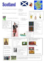 English Worksheet: Scotland