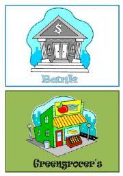 English Worksheet: Shops flashcards 1/5