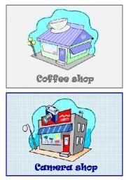 English Worksheet: Shops flashcards 2/5