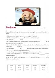 English Worksheet: Madonna  trivia