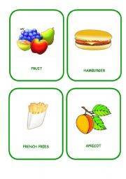 English Worksheet: FOOD FLASHCARDS 6