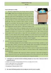English Worksheet: Test - Socrates programme