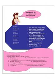 English worksheet: Worksheet for The Princess and the Pea