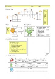 English Worksheet: Parts of the body + have got