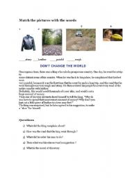 English Worksheets: Dont change the world